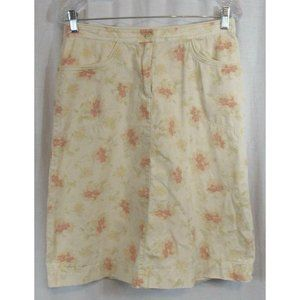 J. Jill Ivory Multi Color Abstract Floral Skirt 8